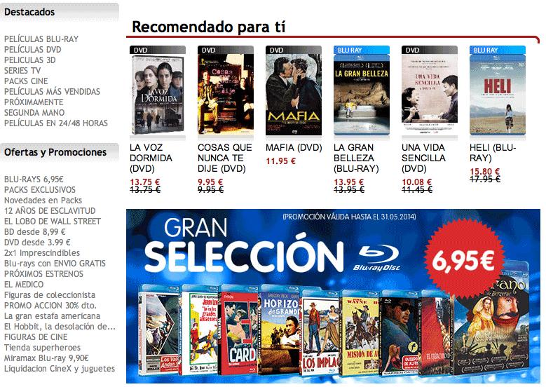 Dónde comprar DVD baratos